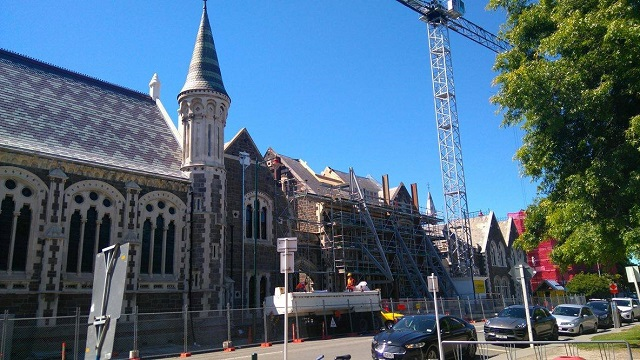 Construction at the Christchurch CBD